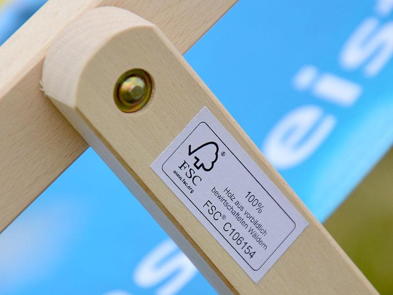 Liegestuhl Holz Werbeartikel ~ Holz Liegestuhl bedruckt im günstigen Digital oder Siebdruck mit