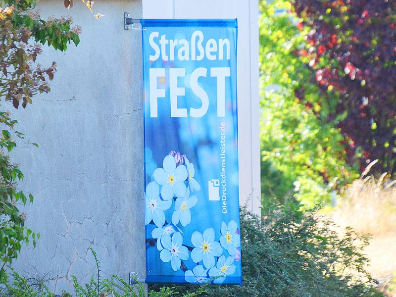 Street-Banner für Wandmontage