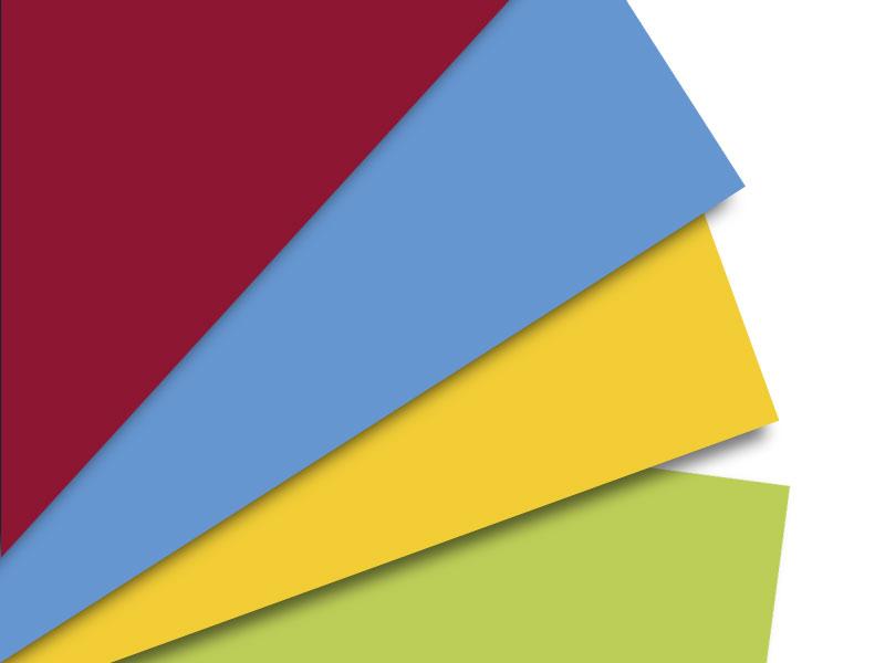 Umschlag farbig unbedruckt haftklebend
