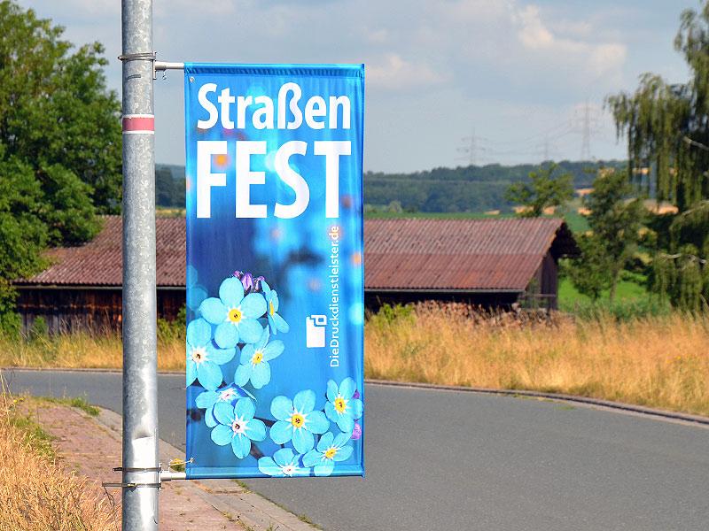 Street-Banner für Laternenmast
