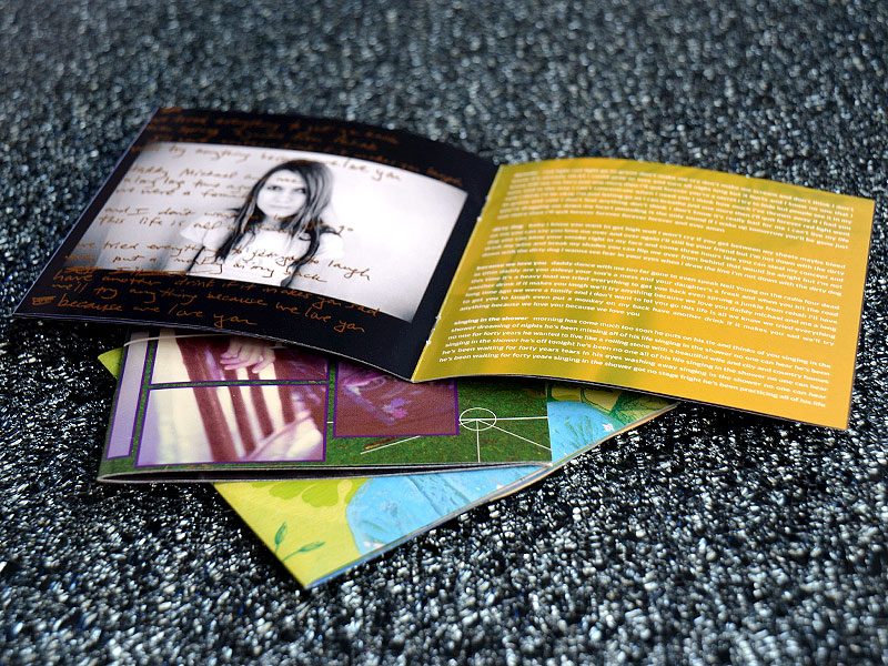 CD-Booklet geheftet