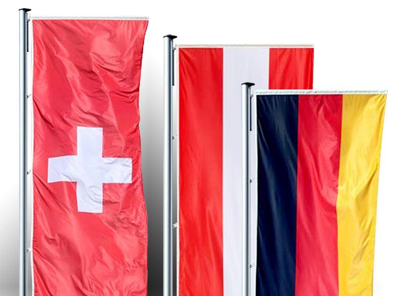 Nationalfahne im Hochformat