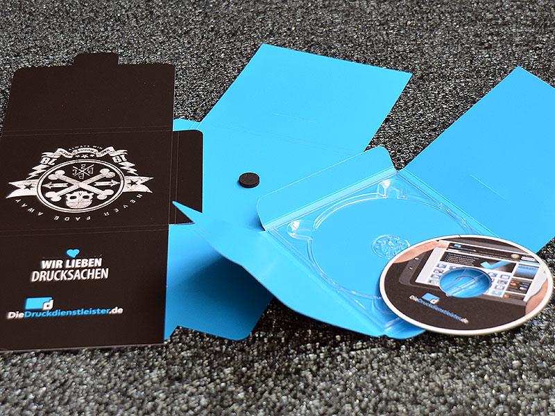 CD-Hülle mit Verschlusslasche