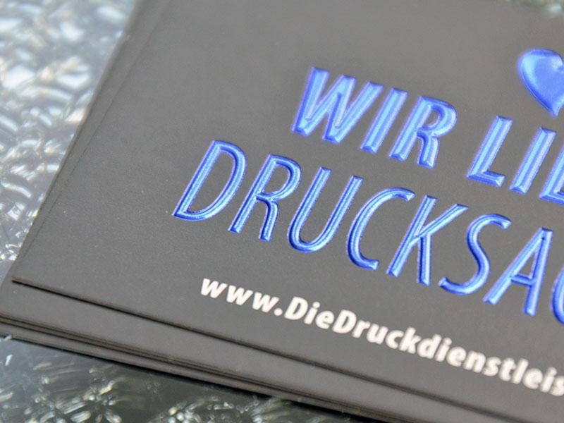 Visitenkarten mit Heißfolie