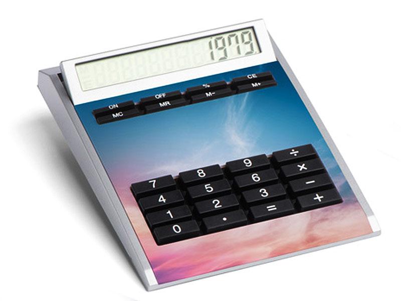 Taschenrechner mit großer Werbefläche