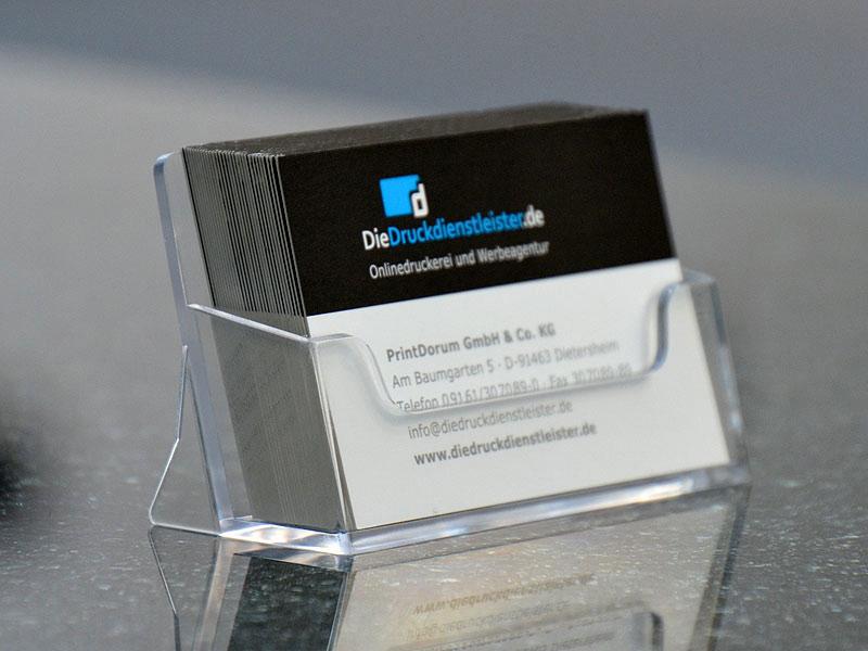 Visitenkartenhalter aus Kunststoff