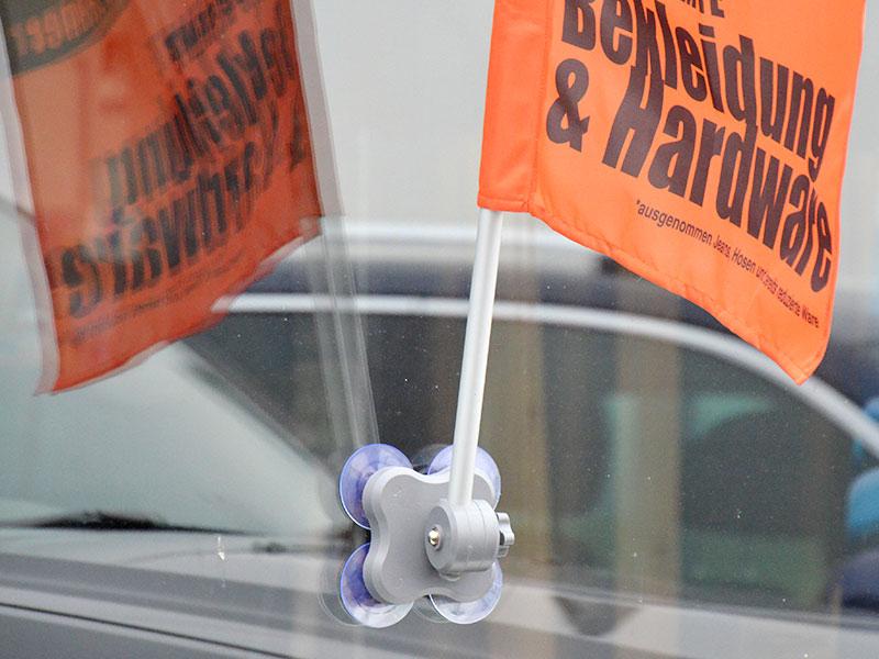 Window-Flag mit Scharnier