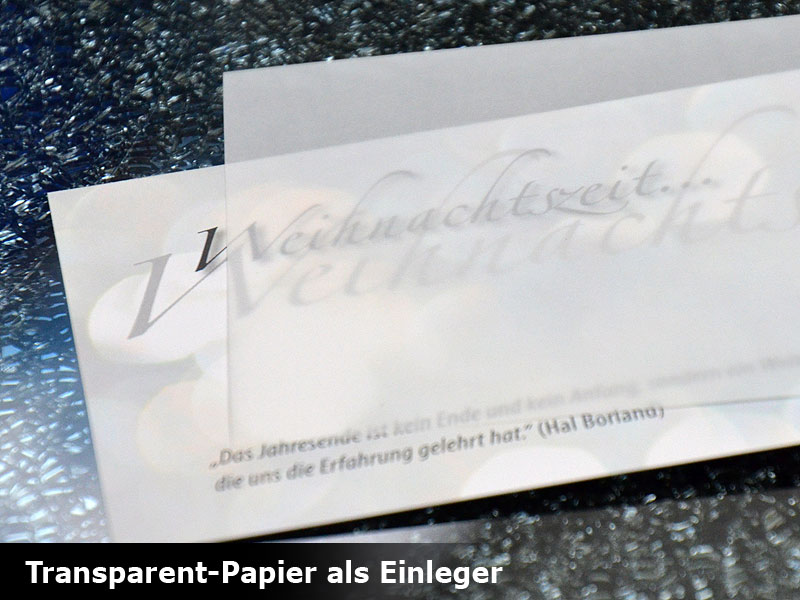 transparentpapier bedrucken