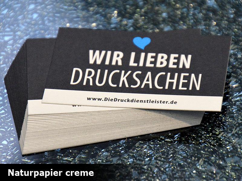 Visitenkarten Mit Umwelt Naturpapier Drucken Schnell